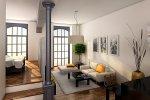 Salon, przykładowa aranżacja, Lofty Platinum
