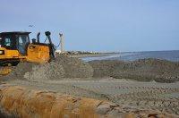 piasek na placu budowy